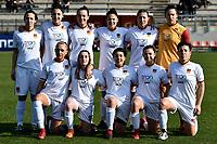 Roma Calcio Femminile team line-up prior to the Women Italy cup round of 8 second leg match between AS Roma and Roma Calcio Femminile at stadio delle tre fontane, Roma, February 20, 2019 <br /> Foto Andrea Staccioli / Insidefoto