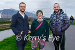 Enjoying a stroll in the Blennerville on Sunday, l to r: Kyle Rostron, Johanna Simon and Anthony Sheppard.