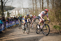 Alexander Kristoff (NOR/UAE) up the Baneberg<br /> <br /> 81st Gent-Wevelgem 'in Flanders Fields' 2019<br /> One day race (1.UWT) from Deinze to Wevelgem (BEL/251km)<br /> <br /> ©kramon