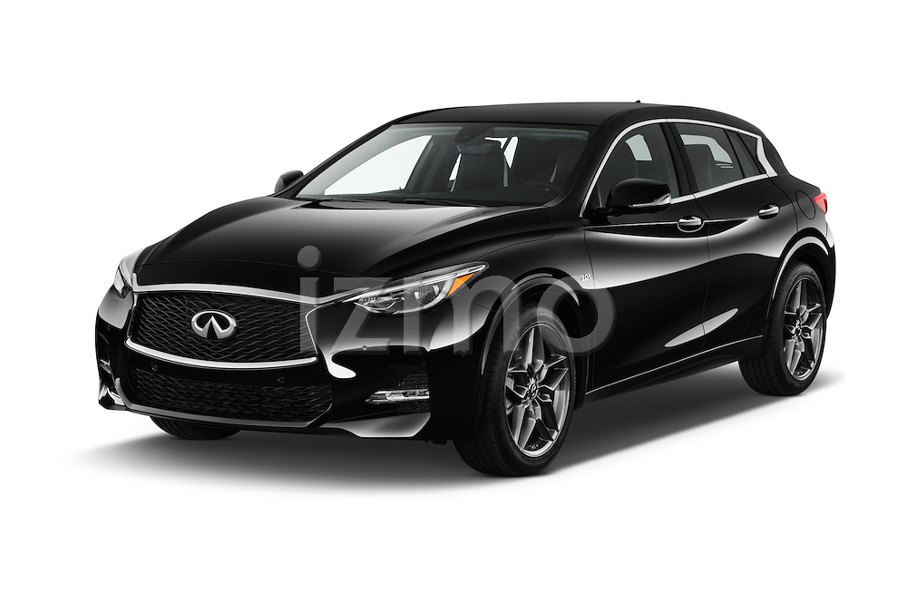 2018 Infiniti QX30 Sport 5 Door SUV Angular Front stock photos of front three quarter view