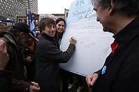 -Montreal (QC) CANADA  - April 22, 2012 File Photo -  Earthday - Francoise David