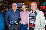 Enjoying the Tyrone and Mayo match in the Sportsfield Bar on Saturday, l to r: Tom Griffin, Derry O'Shea and PJ Costello.