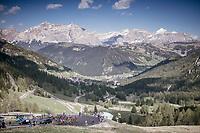 up the Passo Gardena / Grödnerjoch (2221m)<br /> <br /> Stage 18: Moena › Ortisei/St. Urlich (137km)<br /> 100th Giro d'Italia 2017