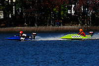 Frame 1: 24-J and 48-N  race into the turn, 48-N then catches the wake a spins out at speed. (runabout)