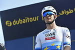 Alexander Kristoff (NOR) UAE Team Emirates at sign on before the start of Stage 3 The Silicon Oasis Stage of the Dubai Tour 2018 the Dubai Tour's 5th edition, running 180km from Skydive Dubai to Fujairah, Dubai, United Arab Emirates. 7th February 2018.<br /> Picture: LaPresse/Fabio Ferrari   Cyclefile<br /> <br /> <br /> All photos usage must carry mandatory copyright credit (© Cyclefile   LaPresse/Fabio Ferrari)