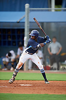 GCL Rays Johampher Arrendoll (13) at bat during a Gulf Coast League game against the GCL Pirates on August 7, 2019 at Charlotte Sports Park in Port Charlotte, Florida.  GCL Rays defeated the GCL Pirates 5-3 in the second game of a doubleheader.  (Mike Janes/Four Seam Images)