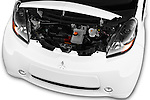 Car Stock 2017 Mitsubishi iMiEV 5 Door Micro Car Engine  high angle detail view