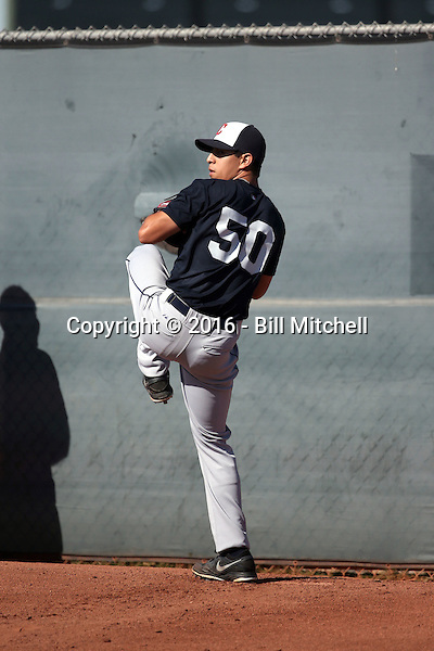 Justin Garza - Cleveland Indians 2016 extended spring training (Bill Mitchell)