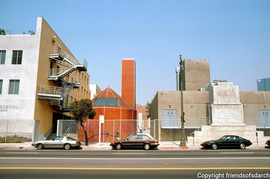 Frank Gehry: Loyola University Law School, Los Angeles. 1441 @. Olympic Blvd., 1981-84. (Photo taken from across street.)   Photo '86.