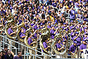 SEATTLE, WA - August 31:  Washington band members entertained fans during the college football game between the Washington Huskies and the Eastern Washington Eagles on August 31, 2019 at Husky Stadium in Seattle, WA.