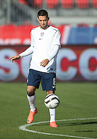 03 June 2012: US Men's National Soccer Team midfielder Clint Dempsey #8 in action during the warm-up in an international friendly  match between the United States Men's National Soccer Team and the Canadian Men's National Soccer Team at BMO Field in Toronto..The game ended in 0-0 draw..