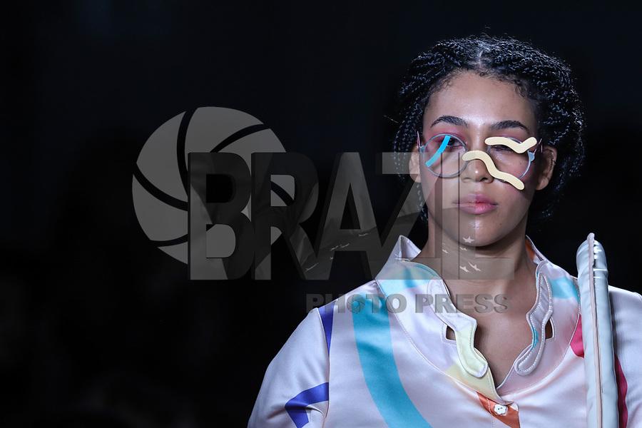 NOVA YORK, EUA, 08.09.2018 - MODA-EUA - Modelo durante desfile da grife C'EST D durante na semana da moda de Nova York nos Estados Unidos neste sábado, 8. (Foto: Vanessa Carvalho/Brazil Photo Press)