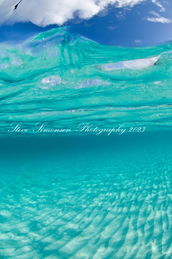 Crystal clear Caribbean water.Trunk Bay, St John.Virgin Islands National Park
