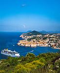 Kroatien, Dalmatien, Dubrovnik: Altstadt - Weltkulturerbe der UNESCO - Kreuzfahrtschiff | Croatia, Dalmatia, Dubrovnik: Old Town - UNESCO world heritage - cruise ship