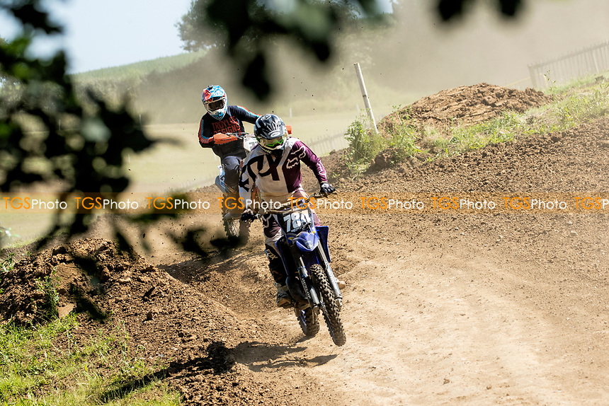 Tyrone Tugwell in action during the NGR Championship. part of card for the Richard Fitch Memorial Trophy Motocross at Wakes Colne MX Circuit on 18th July 2021