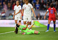 Saint Paul, MN - SEPTEMBER 03: Inês Pereira #1 of the Portugal during their 2019 Victory Tour match versus Portugal at Allianz Field, on September 03, 2019 in Saint Paul, Minnesota.