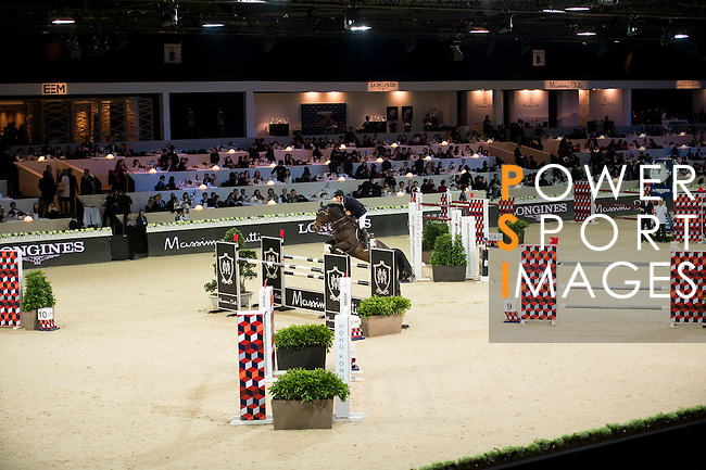Emanuele Gaudiano on Wodan M competes during the Table A with Jump-off 145 - Airbus Trophy at the Longines Masters of Hong Kong on 20 February 2016 at the Asia World Expo in Hong Kong, China. Photo by Li Man Yuen / Power Sport Images