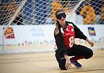 Tiana Knight, Toronto 2015 - Goalball.<br /> Canada's women's Goalball team plays in the bronze medal game // L'équipe féminine de goalball du Canada participe au match pour la médaille de bronze. 14/08/2015.