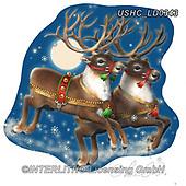 Liz,CHRISTMAS ANIMALS, WEIHNACHTEN TIERE, NAVIDAD ANIMALES, LizDillon, paintings+++++,USHCLD0343,#XA#