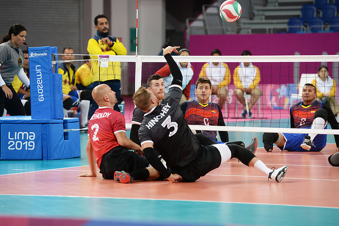 Mikael Bartholdy, Austin Hinchey, Lima 2019 - Sitting Volleyball // Volleyball assis.<br /> Canada competes in men's Sitting Volleyball // Canada participe au volleyball assis masculin. 24/08/2019.