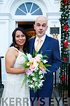 Elizabeth Vega, daughter of Julia Benigno Vega, Bolivia, Siyth America and Maurice Quille, son of John & the late Kathleen Quille, Duagh who were married in a civil ceremony at the Listowel Arms Hotel on Thursday last. Witnesses were Patrick Flynn Lourdes Vega.