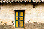 Door and wall in the small town of Zunil, Guatemala