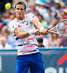 Vasek Pospisil (CAN) fell to fellow countryman Milos Raonic (CAN) in the final of the Citi Open by 61 64 in Washington, DC on August 3, 2014.