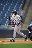 Lakeland Flying Tigers Dylan Rosa (21) at bat during a Florida State League game against the Tampa Tarpons on April 7, 2019 at George M. Steinbrenner Field in Tampa, Florida.  Tampa defeated Lakeland 3-2.  (Mike Janes/Four Seam Images)