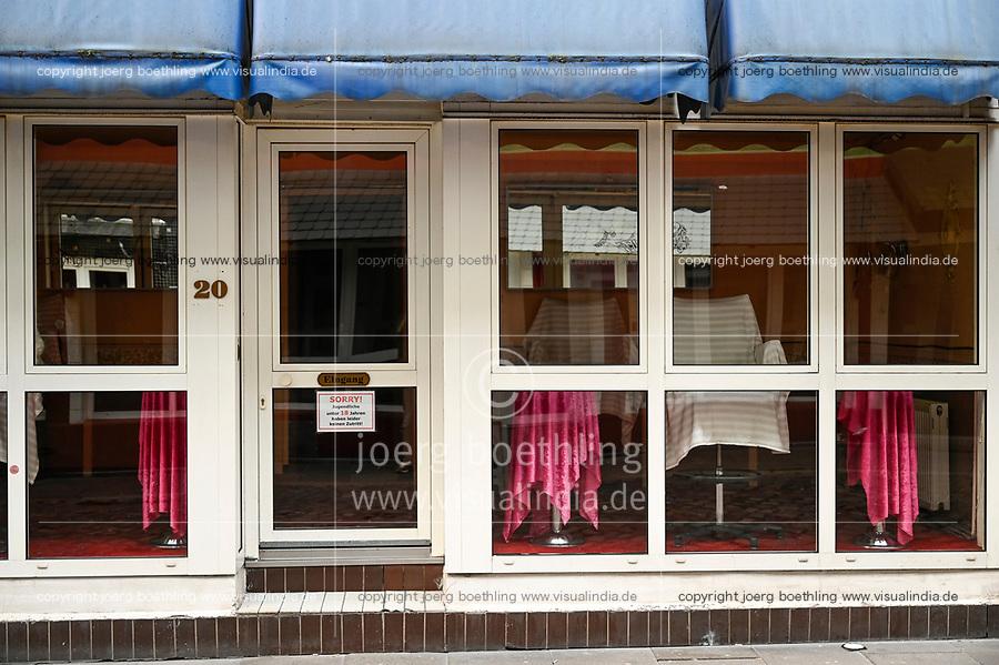 GERMANY, Hamburg, Corona Virus, COVID-19, closed brothel on Reeperbahn, St. Pauli red light district