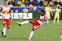Harrison, NJ - Wednesday July 06, 2016: Devon Williams during a friendly match between the New York Red Bulls and Club America at Red Bull Arena.