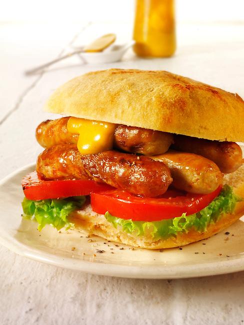 Chipolata Sausage sandwich.