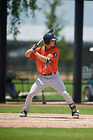 GCL Astros James Nix (59) at bat during a Gulf Coast League game against the GCL Nationals on August 9, 2019 at FITTEAM Ballpark of the Palm Beaches training complex in Palm Beach, Florida.  GCL Nationals defeated the GCL Astros 8-2.  (Mike Janes/Four Seam Images)