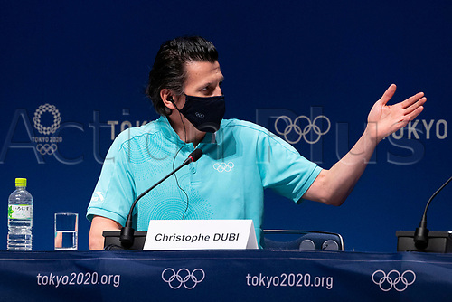 210718 18th July 2021, Tokyo, Japan; International Olympic Committee s Olympic Games,  Executive Director Christophe Dubi attends a press conference, PK, Pressekonferenz at the Main Press Center MPC
