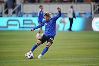 SAN JOSE, CA - MAY 1: Cade Cowell #44 of the San Jose Earthquakes before a game between D.C. United and San Jose Earthquakes at PayPal Park on May 1, 2021 in San Jose, California.