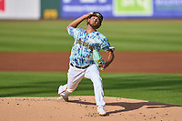 Bradenton Marauders pitcher Jared Jones (37) during a game against the Daytona Tortugas on June 12, 2021 at LECOM Park in Bradenton, Florida.  (Mike Janes/Four Seam Images)