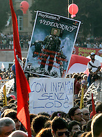 Manifestazione per la liberta' di informazione, in Piazza del Popolo, Roma, 3 ottobre 2009..Demonstration for media freedom in Rome's Piazza del Popolo, 3 october 2009..UPDATE IMAGES PRESS/Riccardo De Luca
