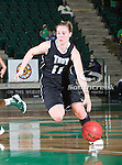 Troy Trojans guard Ieva Nagy (11) in action during the game between the Troy Trojans and the University of North Texas Mean Green at the North Texas Coliseum,the Super Pit, in Denton, Texas.