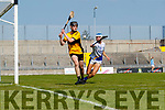 Conor Bohane, Dr. Croke in action against Niall Fitzmaurice, Tralee Parnells during the Kerry County Intermediate Hurling Championship Final match between Dr Crokes and Tralee Parnell's at Austin Stack Park in Tralee