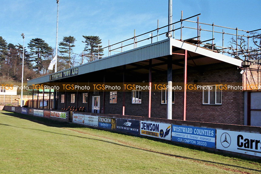 Ladysmead, home of Tiverton Town FC (Devon), pictured in March 1995 - Gavin Ellis/TGSPHOTO - Self billing applies where appropriate - 0845 094 6026 - contact@tgsphoto.co.uk - NO UNPAID USE..