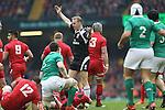 Referee Wayne Barnes<br /> RBS 6 Nations<br /> Wales v Ireland<br /> Millennium Stadium<br /> 14.03.15<br /> ©Steve Pope - SPORTINGWALES