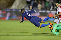 Cary, N.C. - Tuesday March 27, 2018: Tyler Adams, Gatito Fernández during an International friendly game between the men's national teams of the United States (USA) and Paraguay (PAR) at Sahlen's Stadium at WakeMed Soccer Park.