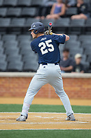 Kel Johnson (25) of the Georgia Tech Yellow Jackets at bat against the Wake Forest Demon Deacons at David F. Couch Ballpark on March 26, 2017 in  Winston-Salem, North Carolina.  The Demon Deacons defeated the Yellow Jackets 8-4.  (Brian Westerholt/Four Seam Images)