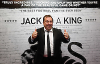 """Pictured: Announcer and club chaplain Kevin Johns. Sunday 14 September 2014<br /> Re: Film premiere of """"Jack To A King"""" depicting the recent history pf Swansea City Football Club, at the Odeon Cinema, Swansea, south Wales, UK."""