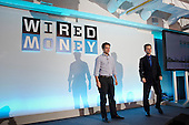 Pitch Room Winner presentation: Christoph Rieche, iwoca, and David Rowan, editor, Wired.  Wired Money fintech event, Level39, Canary Wharf.