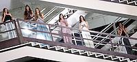 Modelle vestono le creazioni della collezione Autunno Inverno 2014-2015 di Sarli Couture durante la rassegna Altaroma, a Roma, 12 luglio 2014.<br /> Models wear creations by Sarli Couture's Autumn Winter 2014-2015 collection at the Altaroma fashion week in Rome, 12 July 2014.<br /> UPDATE IMAGES PRESS/Riccardo De Luca
