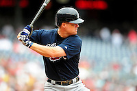 5 July 2009: Atlanta Braves' third baseman Chipper Jones in action against the Washington Nationals at Nationals Park in Washington, DC. The Nationals defeated the Braves 5-3, to take the rubber game of their 3-game weekend series. Mandatory Credit: Ed Wolfstein Photo