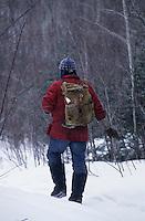 Amérique/Amérique du Nord/Canada/Quebec/Parc régional des Hautes-Gorges : Denis Laliberté trappeur à la pourvoirie du pic au bois [Autorisation : 211]