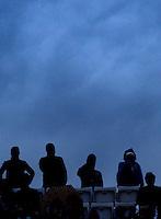 Spettatori in tribuna al campo Centrale durante gli Internazionali d'Italia di tennis a Roma, 15 Maggio 2013..Spectators on the Central court's stand during the Italian Open Tennis tournament ATP Master 1000 in Rome, 15 May 2013.UPDATE IMAGES PRESS/Riccardo De Luca..