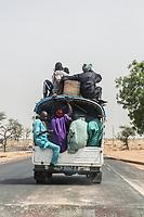 Senegal, Touba.  Vehicular Safety.  No Seatbelts; no Seats!