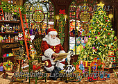 Interlitho-Franco, CHRISTMAS SANTA, SNOWMAN, WEIHNACHTSMÄNNER, SCHNEEMÄNNER, PAPÁ NOEL, MUÑECOS DE NIEVE, paintings+++++,santa workshop,KL6201,#x# ,puzzle,puzzles